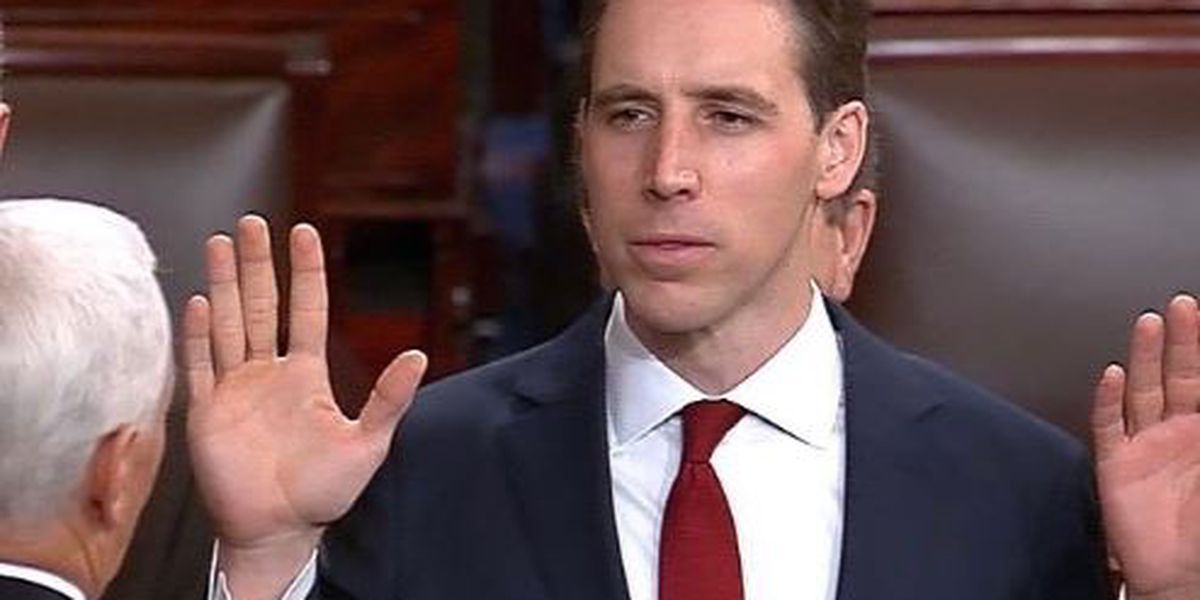 Josh Hawley, country's youngest Senator, takes place on Capitol Hill