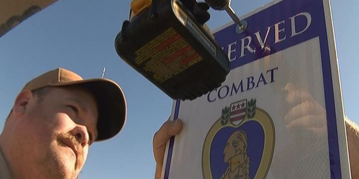 Parking spot designated for veterans at Region 8 sheriff's department