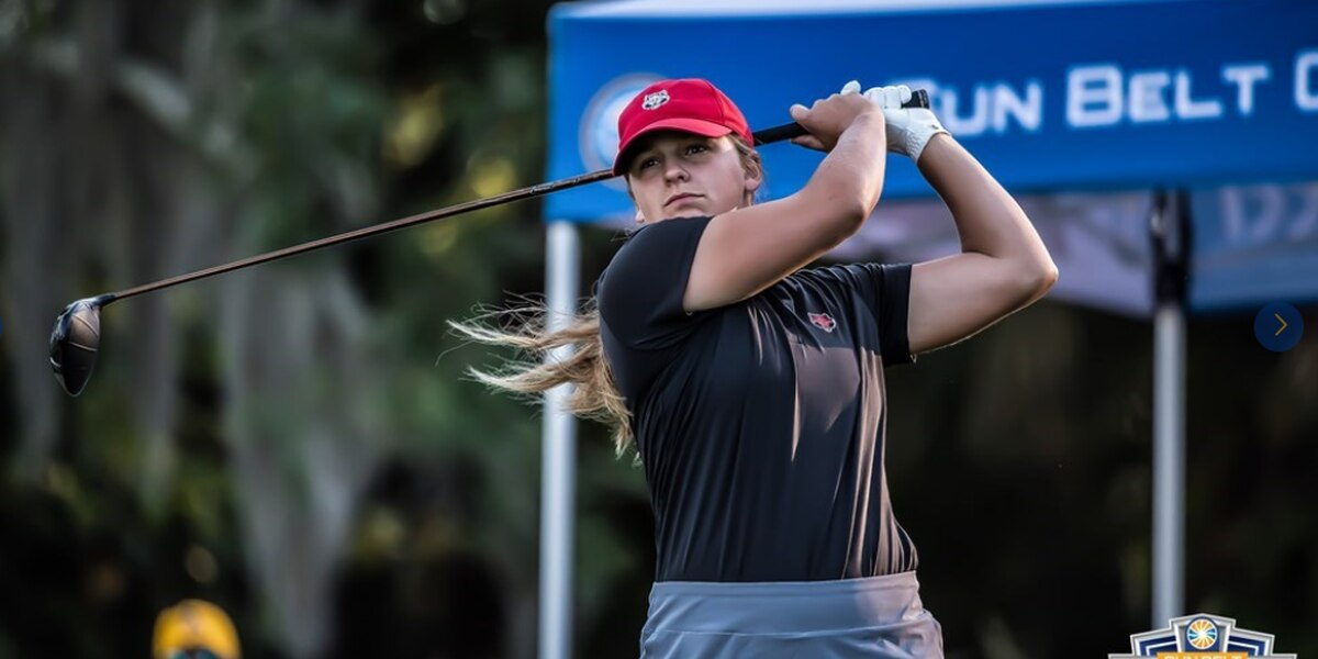 A-State freshman Olivia Schmidt fires 68 to get in contention at SBC Championship