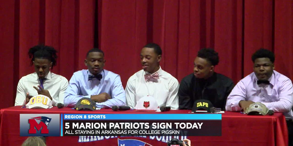 5 Marion Patriots signed Wednesday to play college football