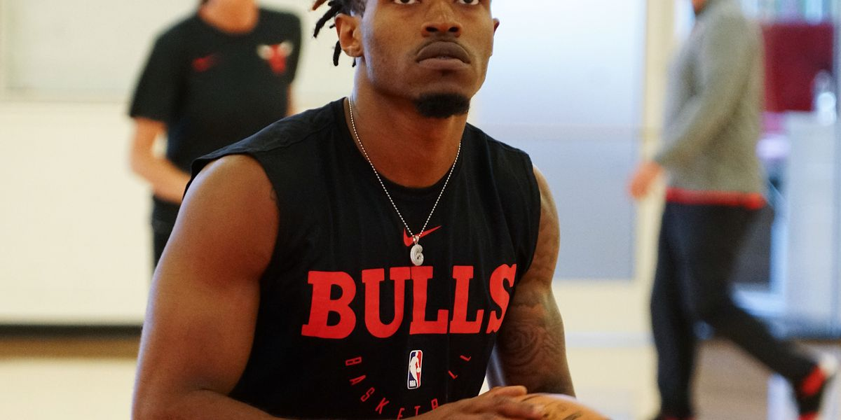 Former A-State guard Ty Cockfield participates in Chicago Bulls pre-draft workout