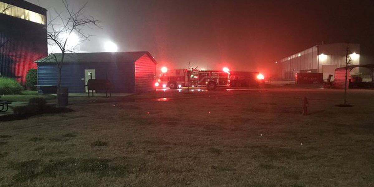 Emergency crews respond to a fire at TrinityRail