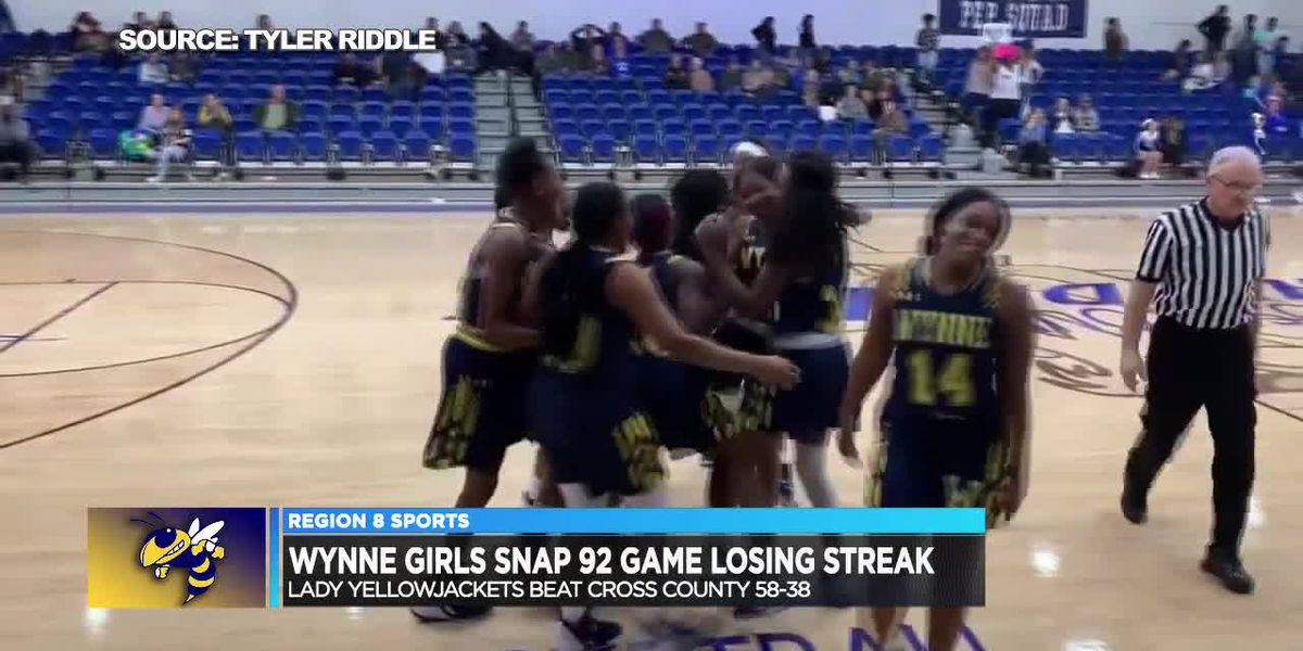 Wynne girls basketball snaps a 92 game losing streak