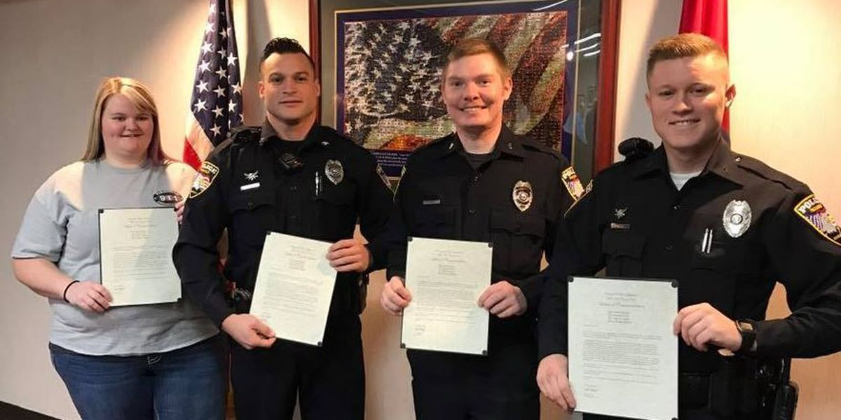 GR8 JOB: Dispatcher, officers honored for saving driver from burning car