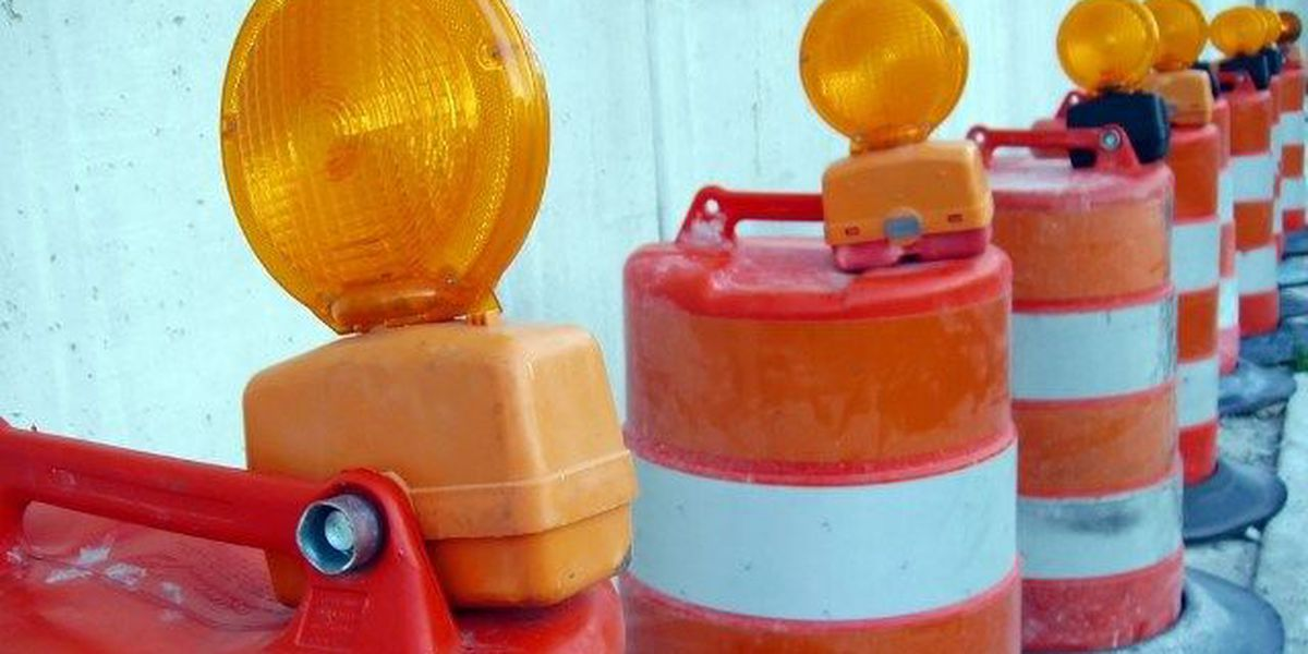 Sidewalk construction begins on Caraway