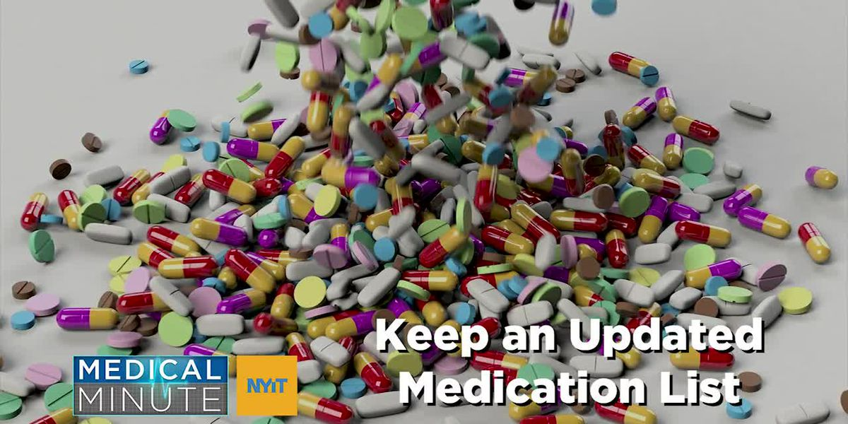 NYIT Medical Minute: Keeping an up-to-date prescriptions meds list