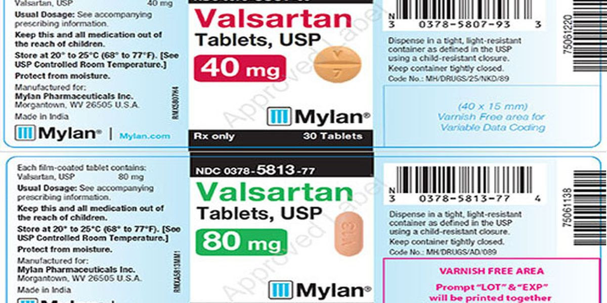 Valsartan recall expanded to include all of one company's products