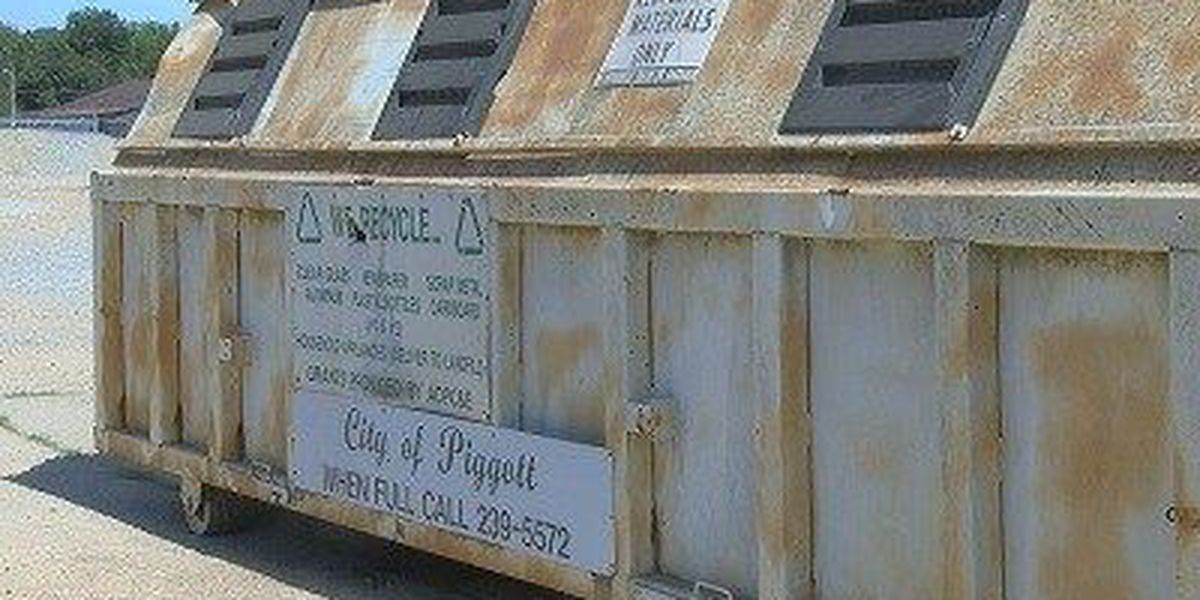 City moves recycling bin after dumping of furniture and dead animals