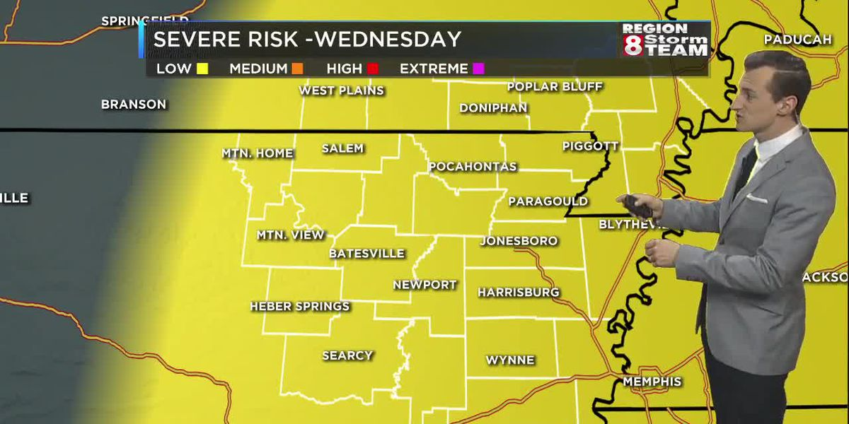 April 7: Cold front bringing a risk of severe storms