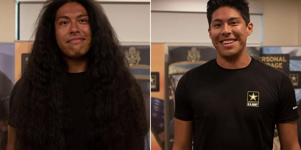 Man gets first haircut in 15 years to join Army