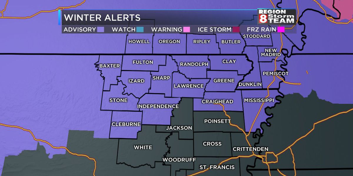 Winter Weather Advisory set for region as weather approaches
