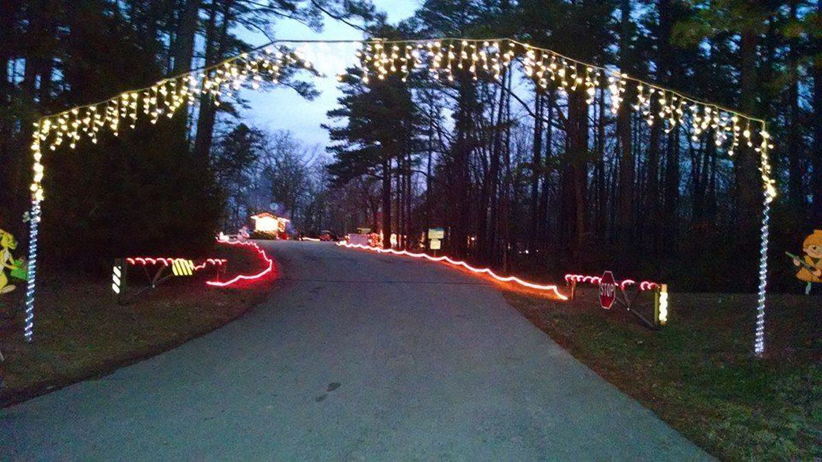 Wappapello Christmas Lights 2020 Festival of Lights Auto Tour going up at Wappapello Lake