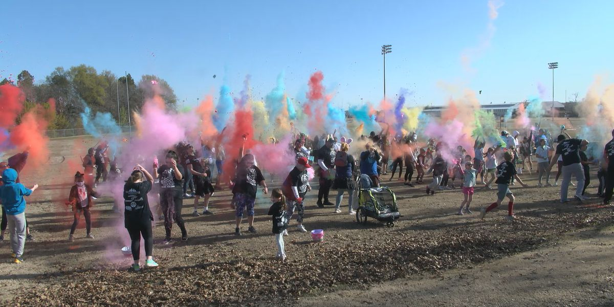 Color run teaches children the importance of healthy living