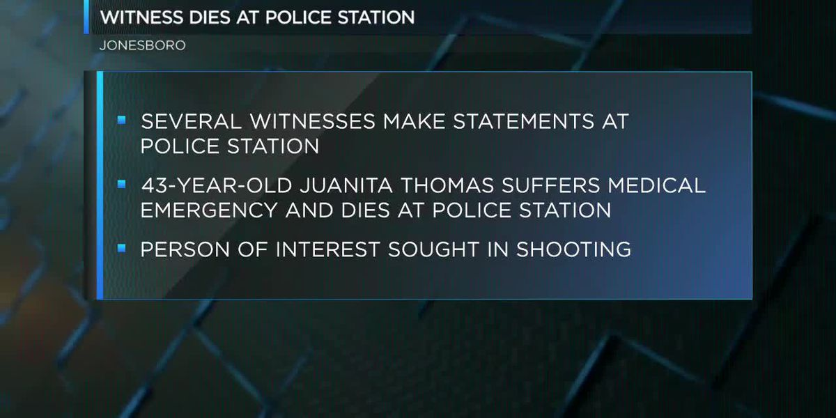 Witness describing shooting dies at police station
