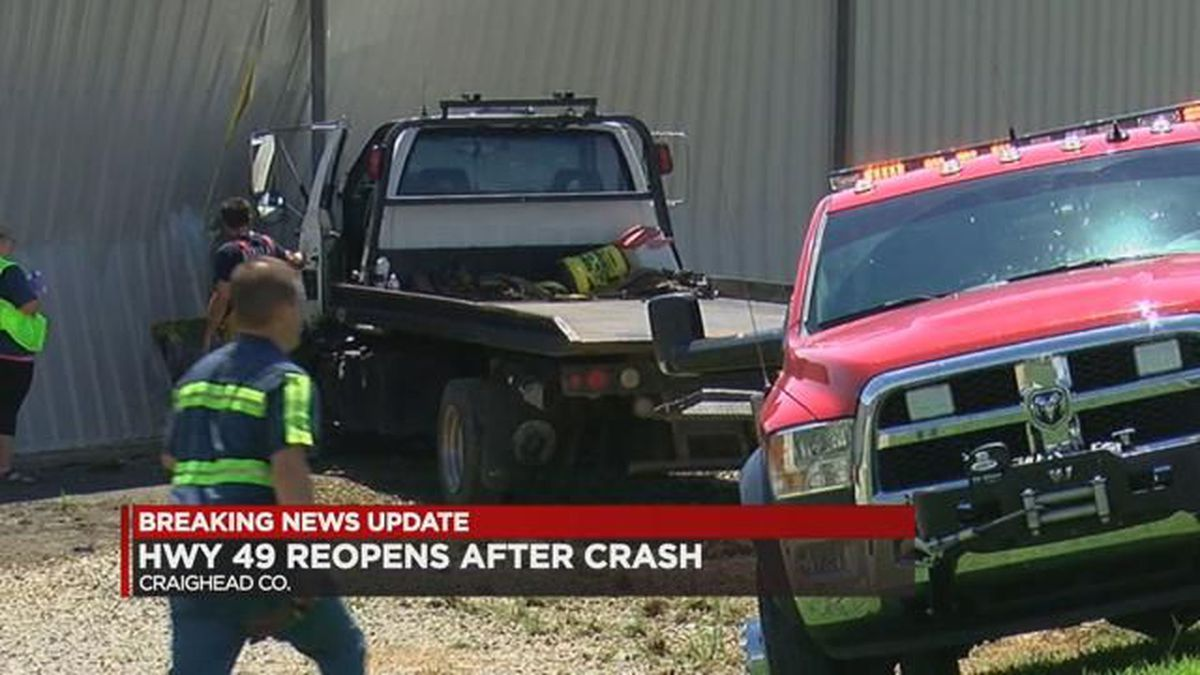 Hwy 49 reopens after crash at Craighead/Greene County line