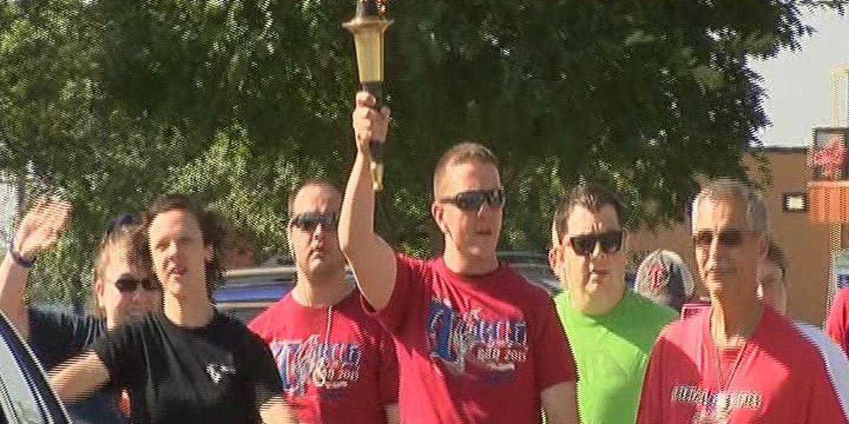 Jonesboro officers participate in Special Olympics torch run