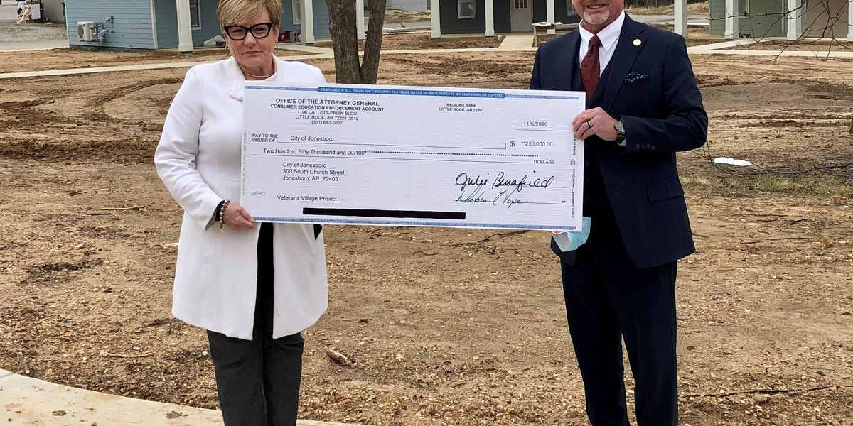 Attorney General's office donates $250,000 for Veterans Village