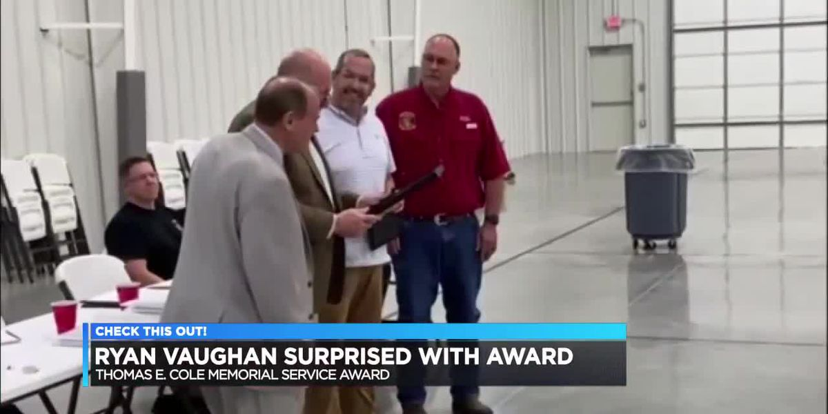 Ryan Vaughan surprised with award