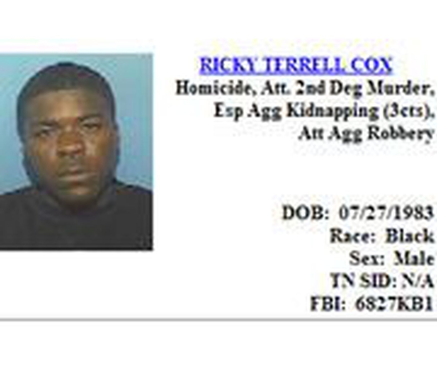 One of Two of Tennessee's 'Most Wanted' Found in West Memphis