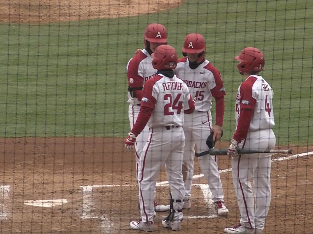 Razorback baseball picks up two wins on Opening Day