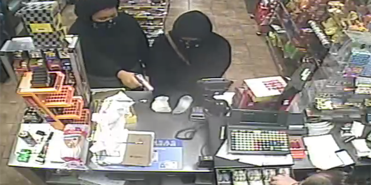 Two robberies in one hour, police search for suspects