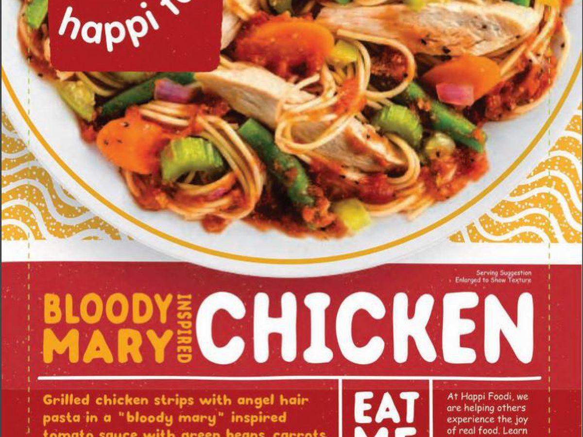 Chicken meals recalled because of undisclosed allergen