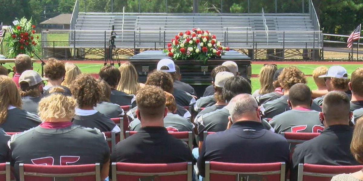 Football player Hunter Midkiff laid to rest