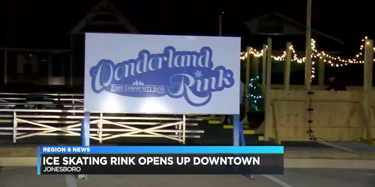 Ice skating rink opens in downtown Jonesboro - clipped version