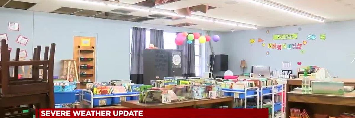 Storm causes roof damage to Cherokee Elementary