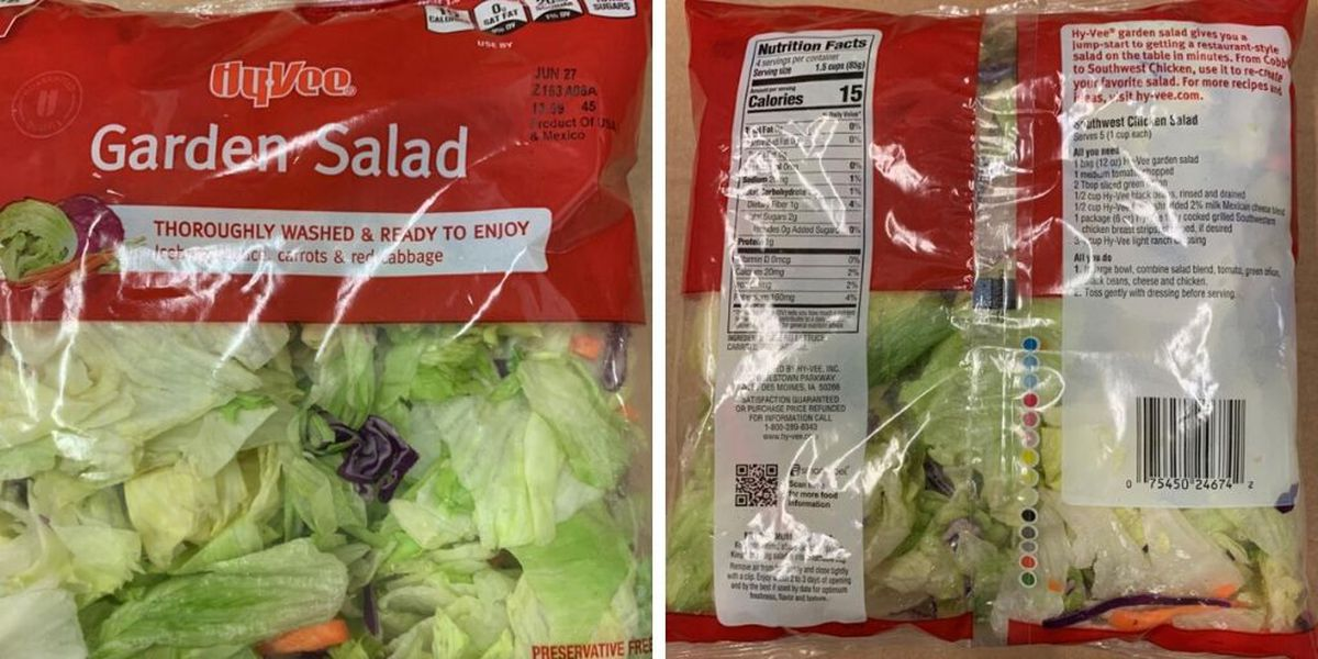ALDI, Hy-Vee recall pre-packaged salads