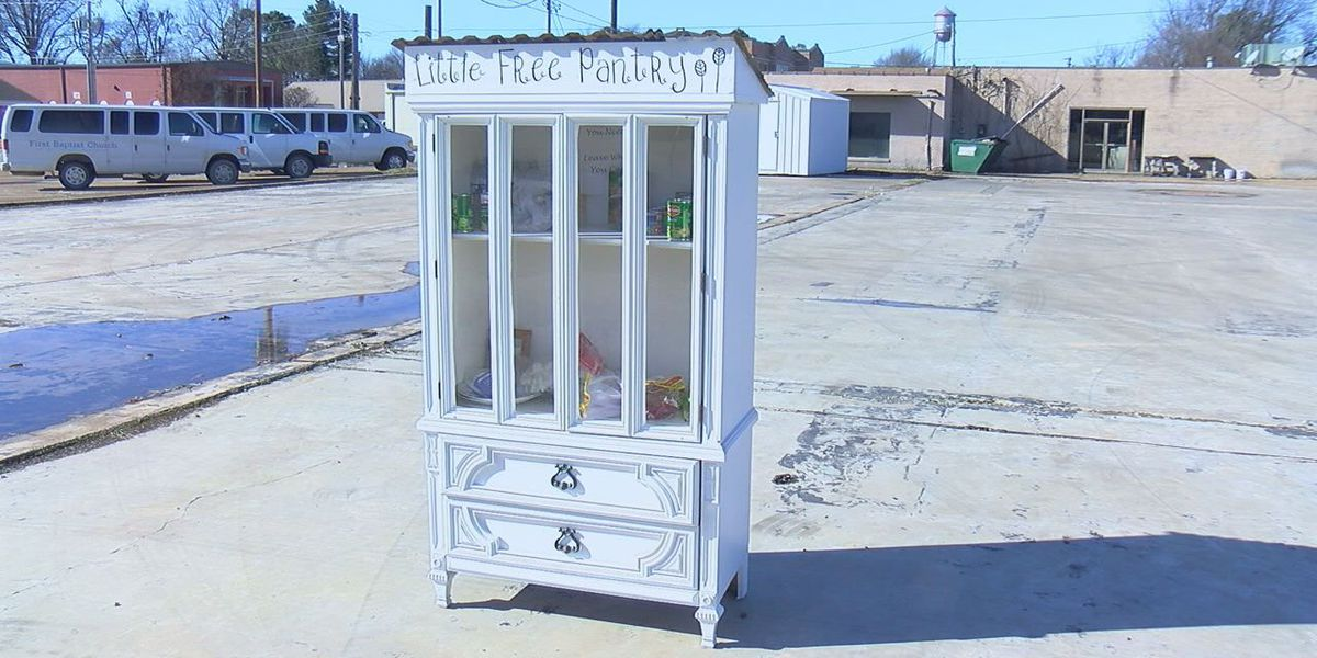 Little Free Pantry set up to help the hungry