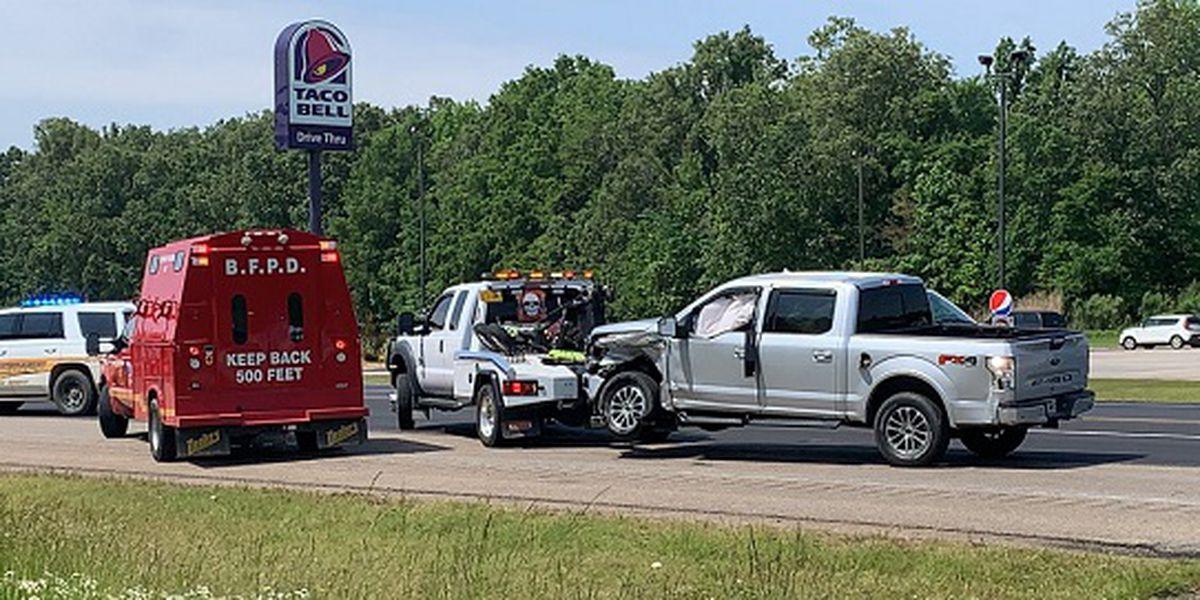 Authorities respond to Highway 49 crash
