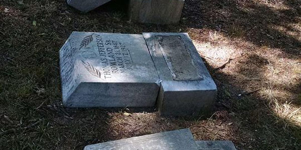 Police report another case of vandalism at same cemetery, reward offered