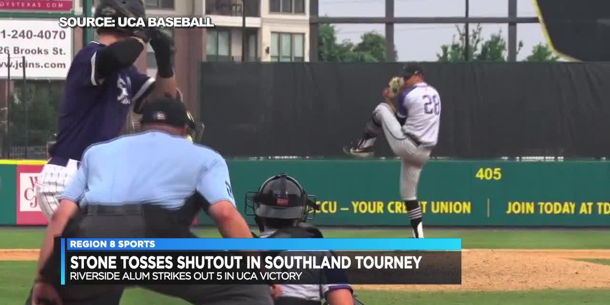 Riverside alum Gavin Stone tosses shutout as UCA advances in Southland Conference Tournament