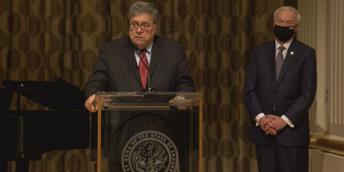 Attorney General Barr visits Arkansas, discusses criminal justice
