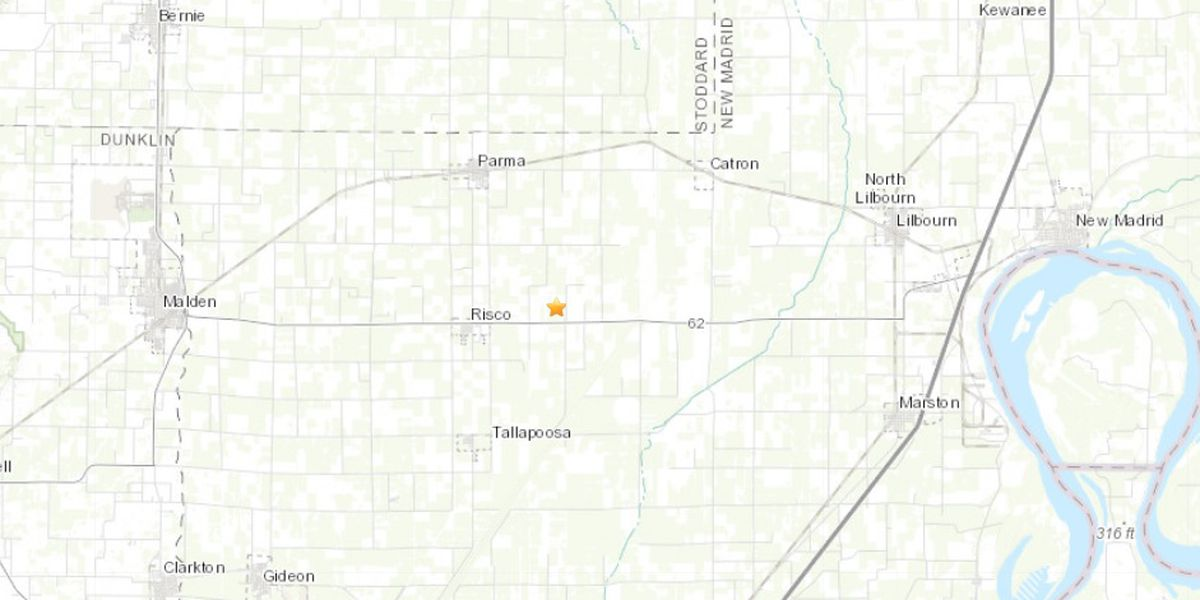 2.1 earthquake hits near Risco, MO