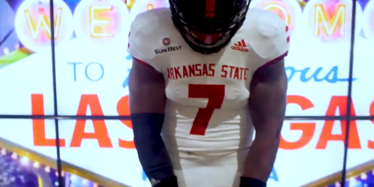Arkansas State football reveals new white uniforms for first road game of 2019