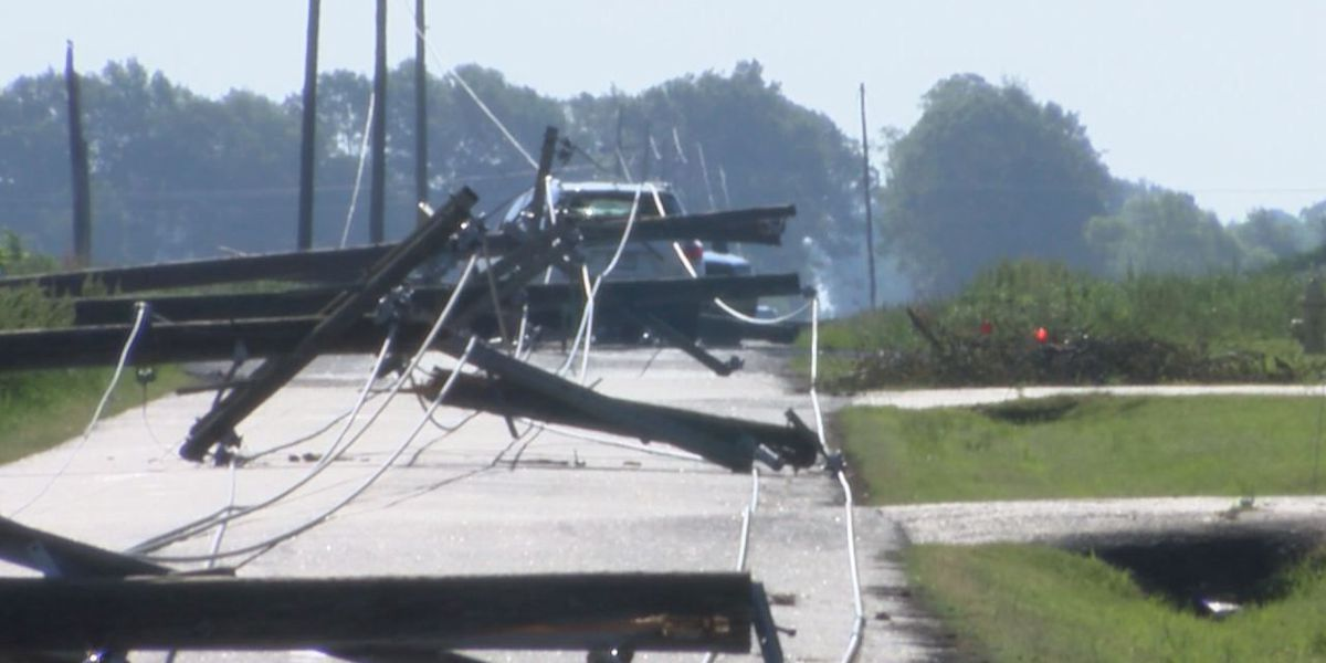 Power lines knocked down in Stuttgart due to strong storms