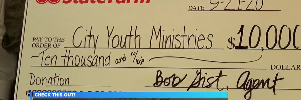 City Youth Ministries receives $10,000 in donations, thanks to State Farm agent