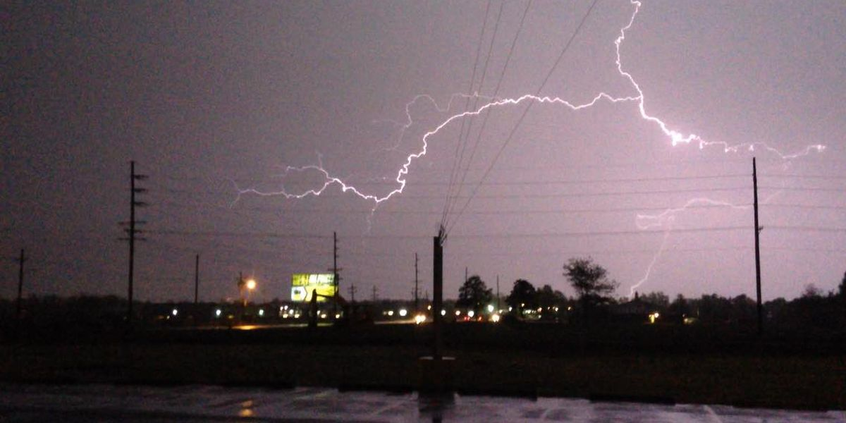 Strong storms downed poles and lines, minor damage reported