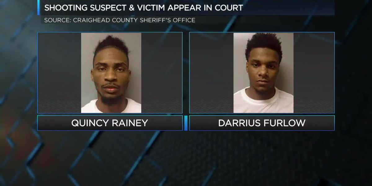 Shooting suspect and victim make 1st court appearance