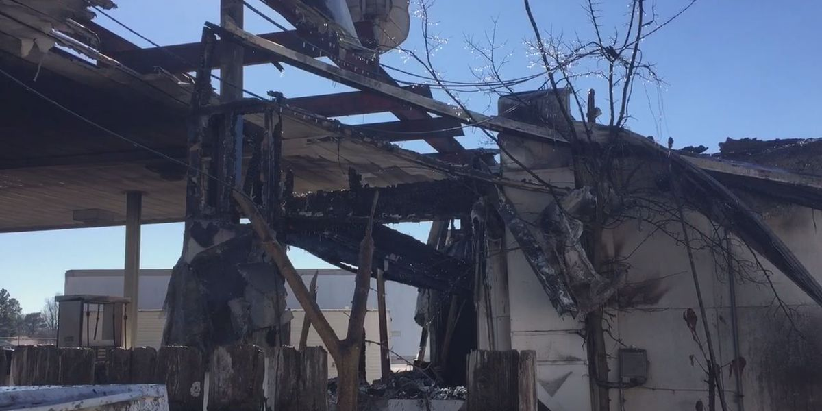 Fire destroys vacant gas station in Hoxie