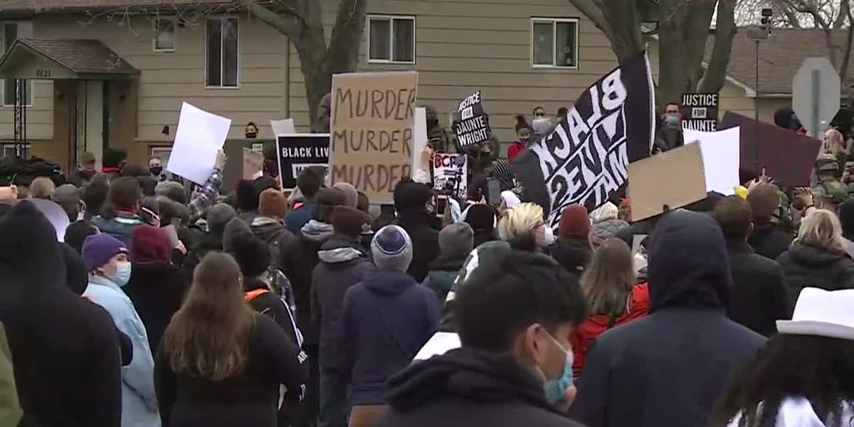 GRAPHIC: Calls for justice follow Wright's death in Minn. less than a year after Floyd's death