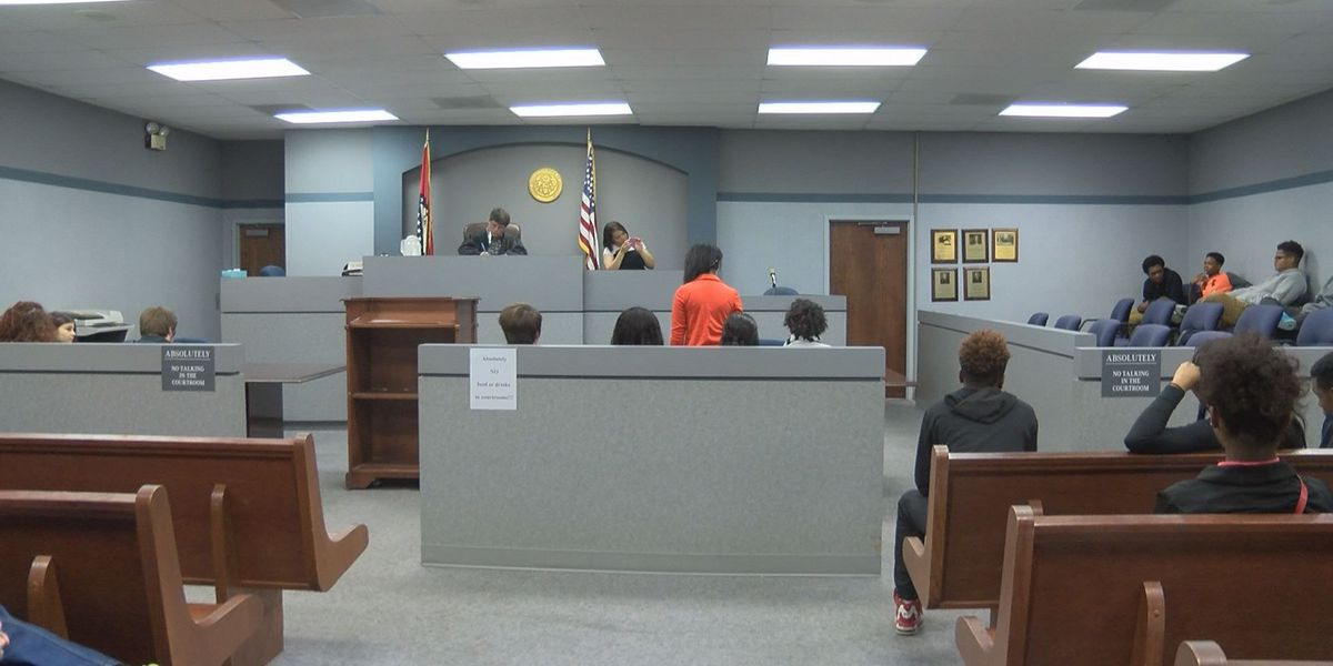 Students learn legal system inside real courtroom