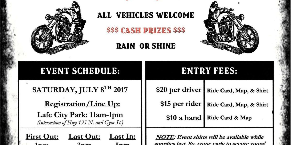 Dice run to benefit Lafe Fire Department