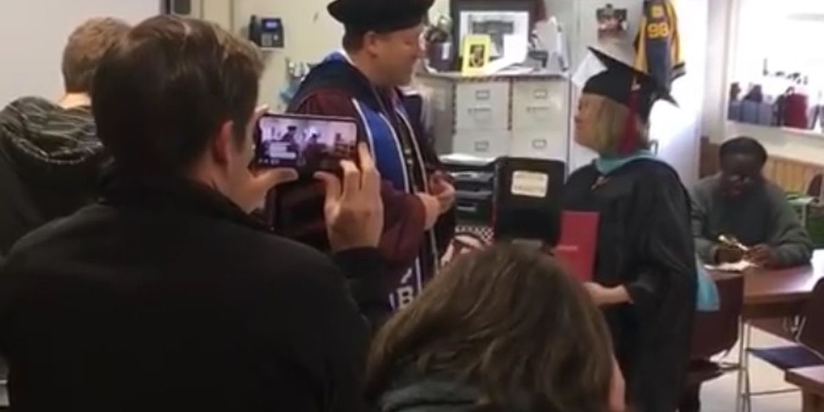 VIDEO: A-State chancellor hand-delivers diploma to Blytheville teacher