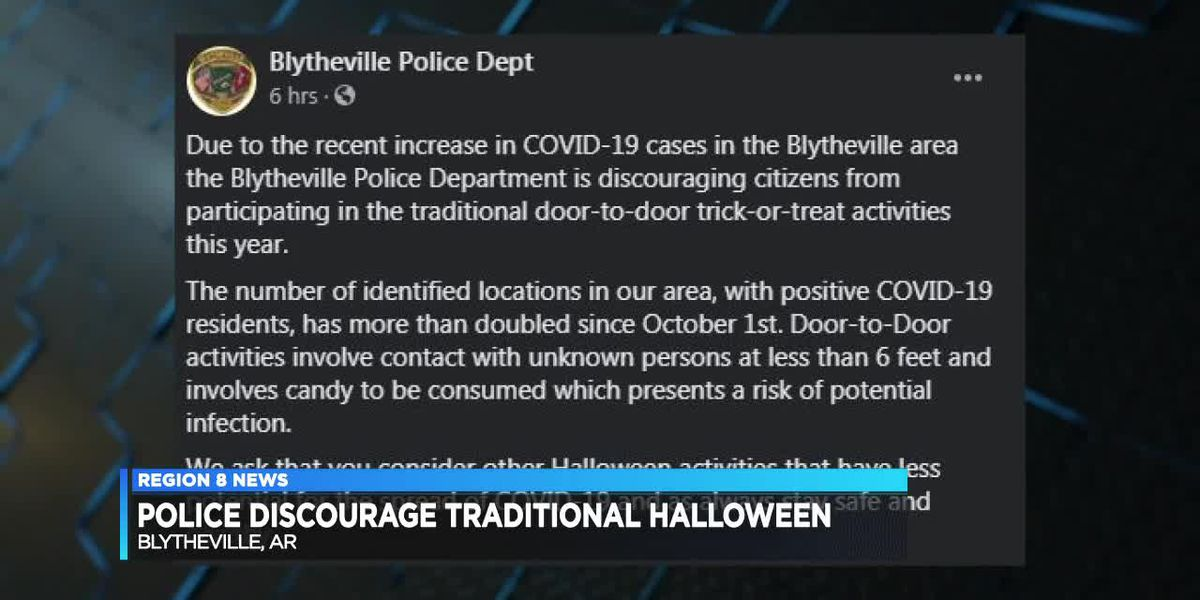 Blytheville Police Department discourages trick-or-treating