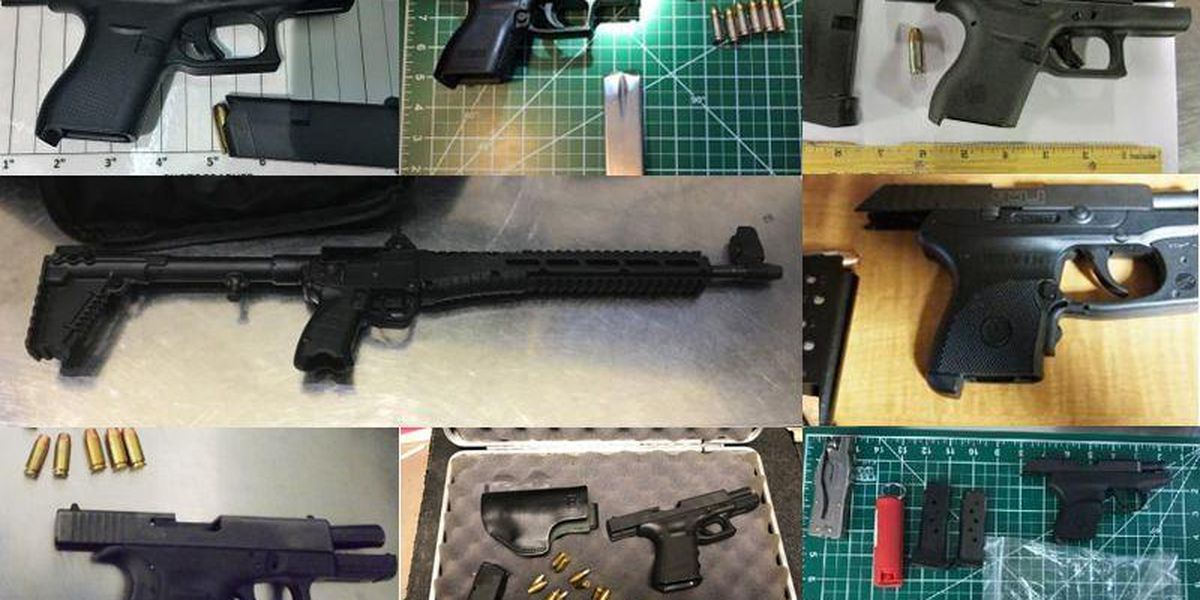 TSA confiscated 300 loaded guns at airport security last month