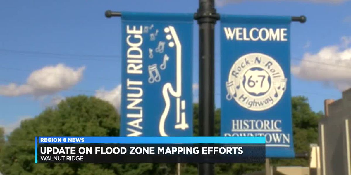 Flood zone remapping efforts in Walnut Ridge