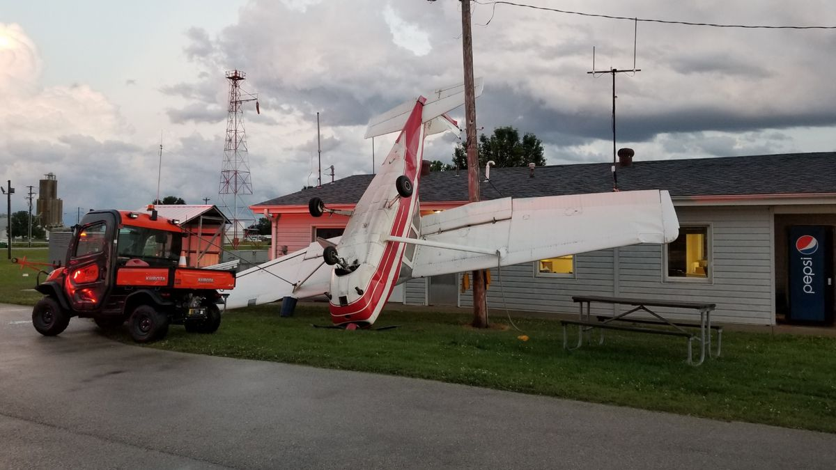 June 20: Airplane-flipping storms roll through region